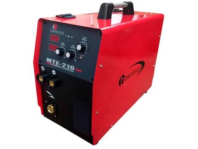 Máquina de Solda Bambozzi Inversora Multiprocesso 210 Plus Bivolt
