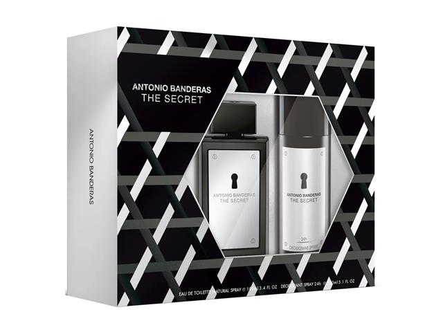 Kit Perfume Antonio Banderas The Secret Masc EDT 100ml + Deo Spray - 1
