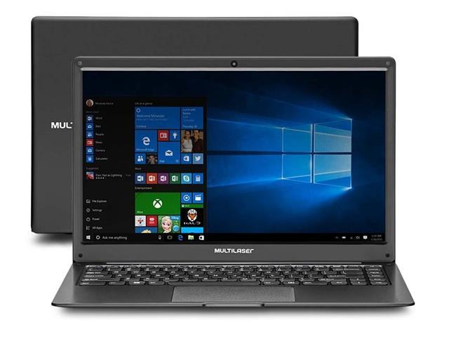 """Notebook Multilaser Legacy Cloud AMD 2GB 64GB HD Windows 10 Preto 14"""""""