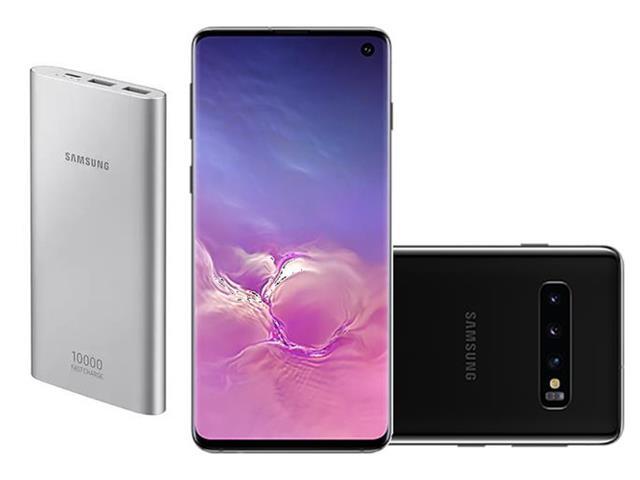 Smartphone Samsung Galaxy S10 128GB Preto + Bateria Externa 10000mAh