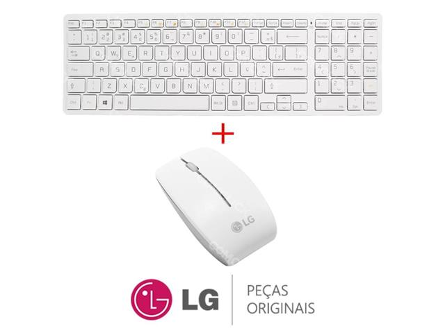 Kit Teclado Sem Fio e Mouse Sem Fio com receptor único Branco V320 LG