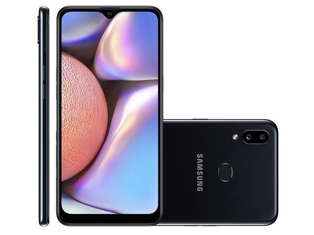 "Smartphone Samsung Galaxy A10s 32GB Duos 4G Tela 6.2"" Câm 13+2MP Preto"