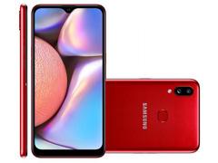 """Smartphone Samsung Galaxy A10s 32GB Duos 4G Tela 6.2"""" 13+2MP Vermelho"""