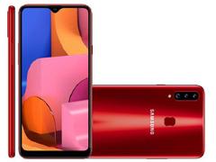 "Smartphone Samsung Galaxy A20s 32GB 4G Tela 6.5"" Câm 13+5+8MP Vermelho"