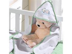 Toalha Capuz Baby Plush Felpudo Lisa Teddy Soninho