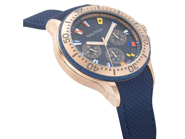 Relógio Nautica Masculino Borracha Azul NAPAUC008 - 1