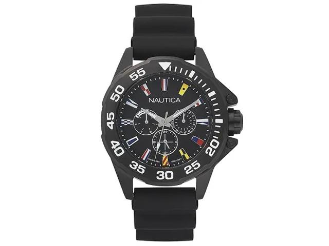 Relógio Nautica Masculino Borracha Preta NAPMIA001