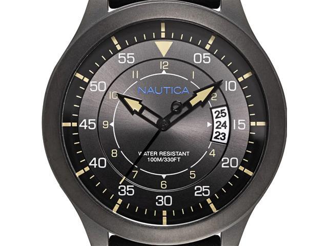 Relógio Nautica Masculino Couro Preto NAPPLP905 - 1
