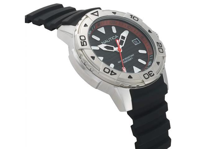 Relógio Nautica Masculino Borracha Preta NAPEGT001 - 1