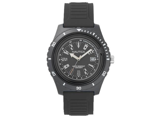 Relógio Nautica Masculino Borracha Preta NAPIBZ007