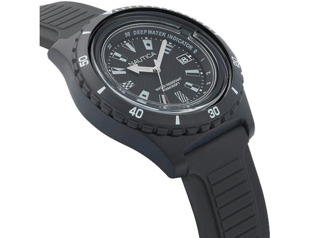 Relógio Nautica Masculino Borracha Preta NAPIBZ007 - 1