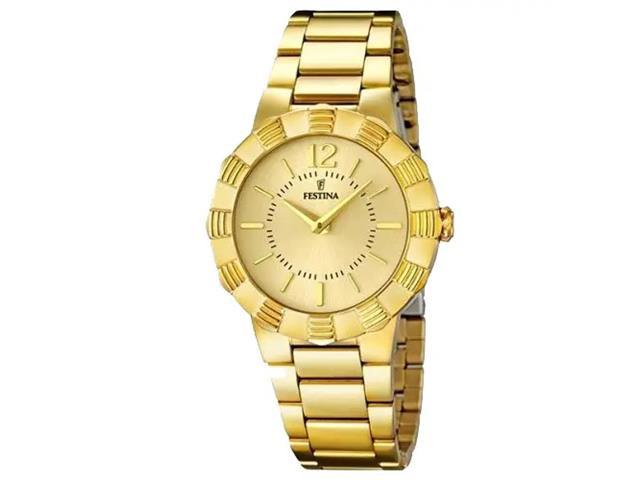 Relógio Festina Feminino Aço Dourado F16732/2