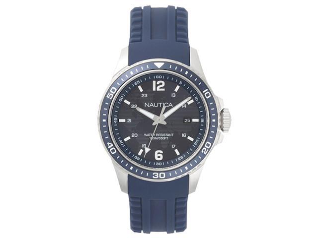 Relógio Nautica Masculino Borracha Azul NAPFRB002