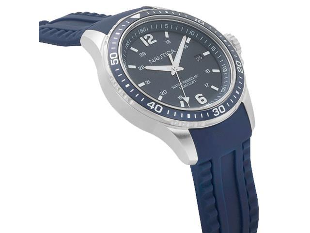 Relógio Nautica Masculino Borracha Azul NAPFRB002 - 1