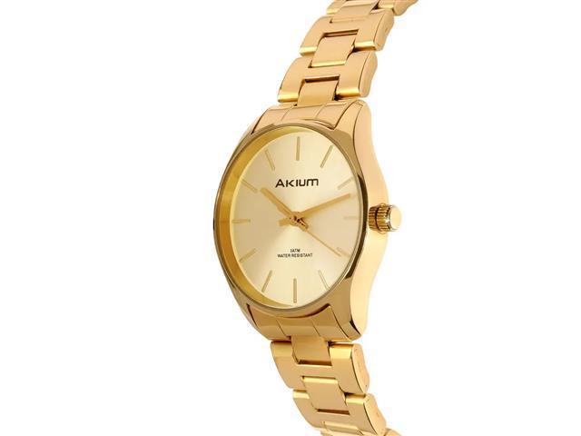 Relógio Akium Feminino Aço Dourado TML7138B - 2