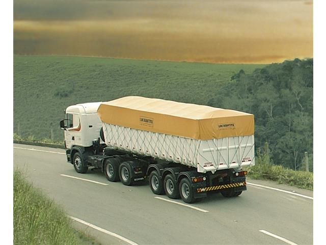 Lona de Cobertura para Cargas Locomotiva Lonil PVC Laranja 15x5M - 1
