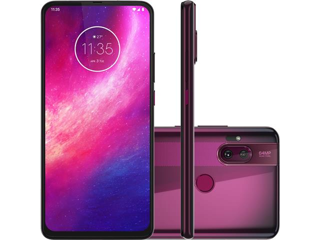 "Smartphone Motorola One Hyper 128GB 6.5"" Câm 64+8MP e Selfie 32MP Rosa"