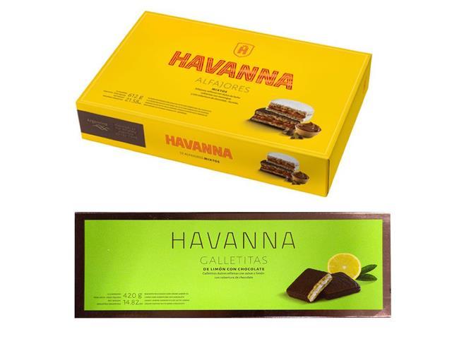 Combo Alfajor Sortido 12 unid + Galletita Limón c/ cob de Chocolate