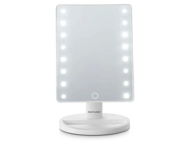 Espelho de MesaLED Multilaser á Pilhas HC174 Branco - 1