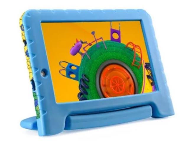 "Tablet Infantil Multilaser Discovery Kids 16GB 7"" Wi-fi Dual Câm Azul"
