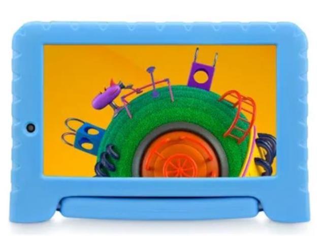 "Tablet Infantil Multilaser Discovery Kids 16GB 7"" Wi-fi Dual Câm Azul - 1"