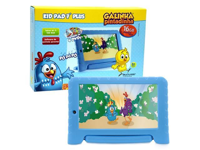 Tablet Infantil Multilaser Galinha Pintadinha 16Gb Dual Câm Android