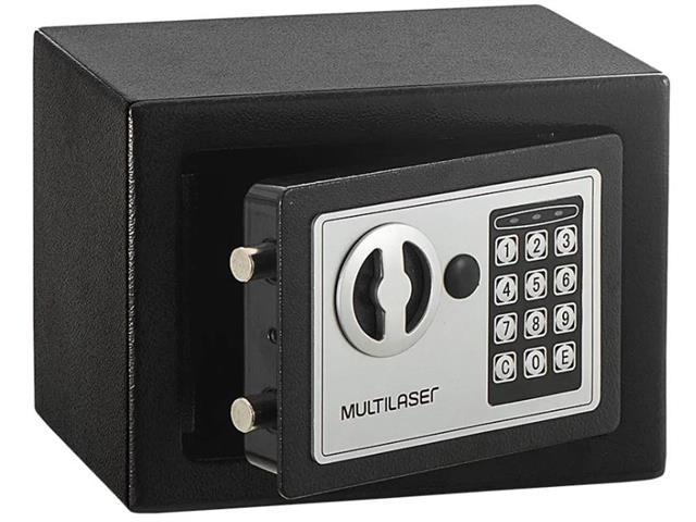Cofre Eletrônico Multilaser 17 x 23 x 17cm OF007 Preto - 1