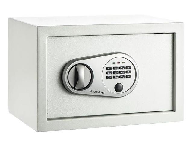 Cofre Eletrônico Multilaser 20 x 31 x 20cm OF008 Branco - 1