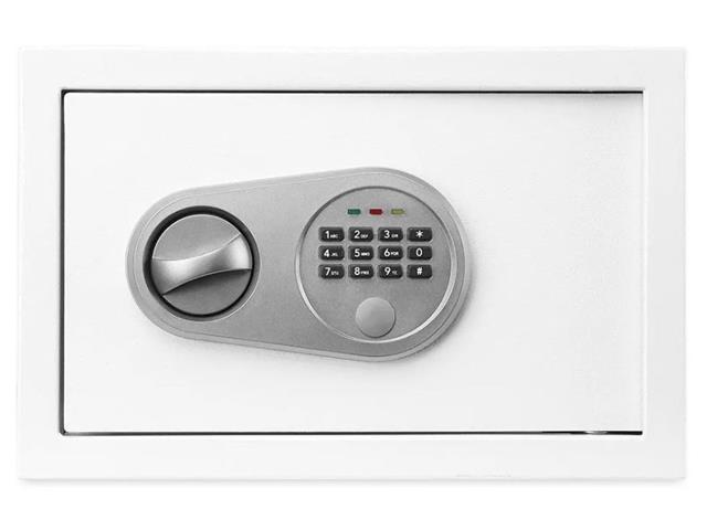 Cofre Eletrônico Multilaser 20 x 31 x 20cm OF008 Branco - 2