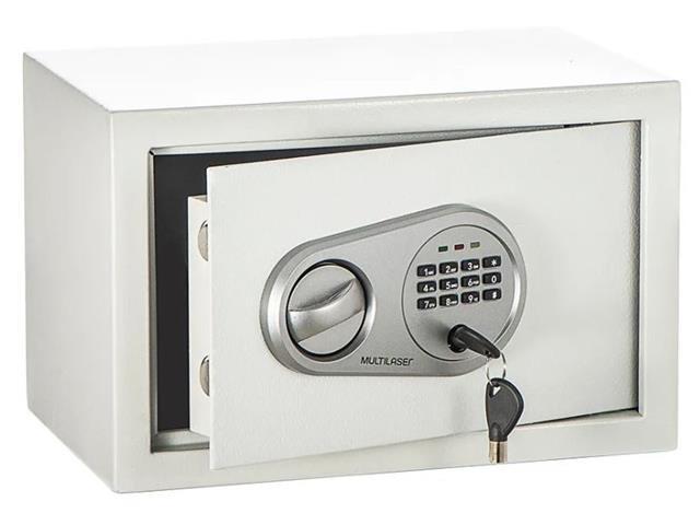 Cofre Eletrônico Multilaser 20 x 31 x 20cm OF008 Branco