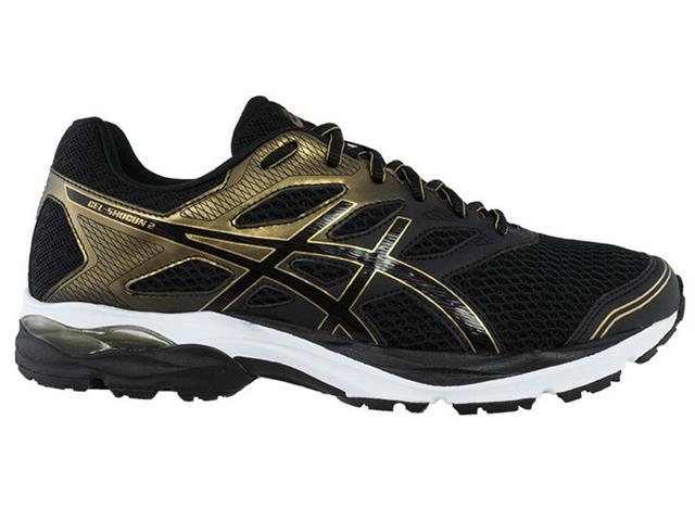 Tênis Asics Gel-Shogun 2 Black/Pure Gold Masculino - 1