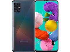 "Smartphone Samsung Galaxy A51 128GB 4G 6.5"" Quad Cam 48+12+5+5M Preto"