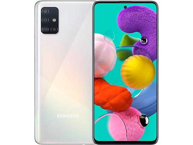 "Smartphone Samsung Galaxy A51 128GB 4G 6.5"" Quad Cam 48+12+5+5M Branco"