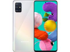 "Smartphone Samsung Galaxy A51 128GB 4G 6.5"" Quad Cam 48+12+5+5M Branco - 0"