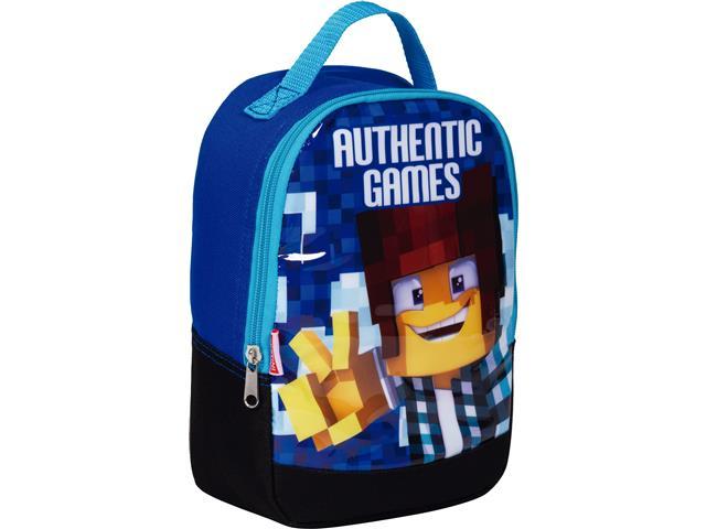 Lancheira Infantil Sestini Authentic Games com Alças Tam P Azul
