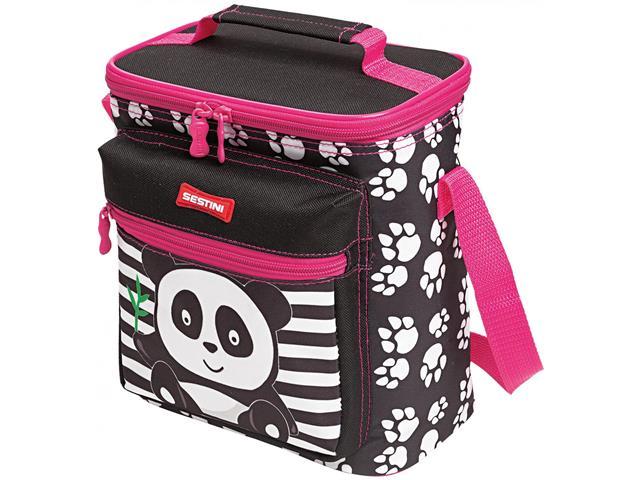 Lancheira Infantil Sestini Especial Kids Panda Rosa - 3