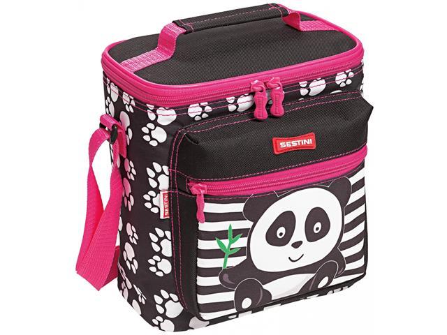 Lancheira Infantil Sestini Especial Kids Panda Rosa