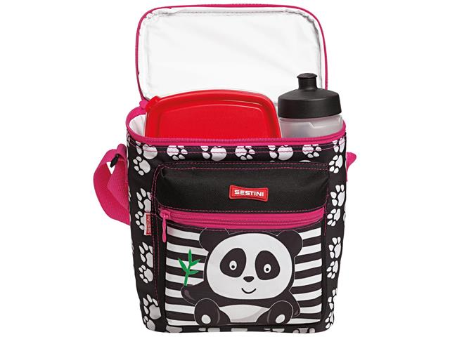 Lancheira Infantil Sestini Especial Kids Panda Rosa - 2