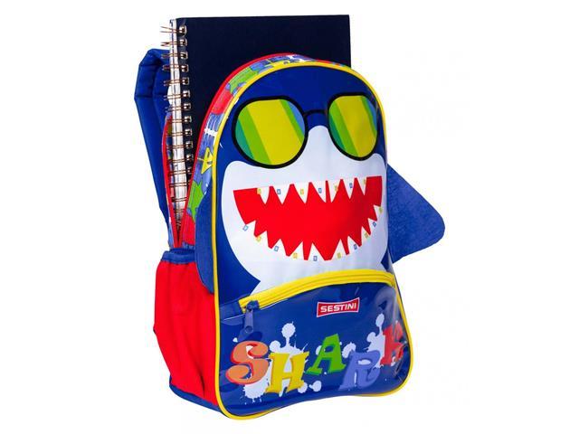 Mochila Infantil Sestini Kids Basic Tubarão Tam M Colorida - 1