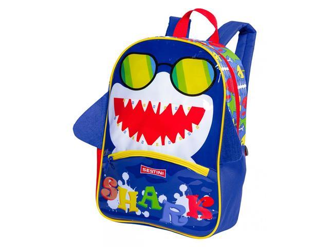Mochila Infantil Sestini Kids Basic Tubarão Tam M Colorida