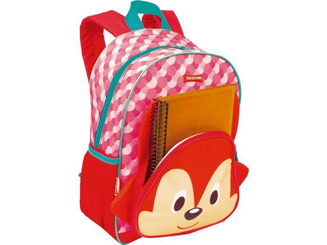 Mochila Infantil Sestini Kids Basic Raposa Tam M Colorida - 3