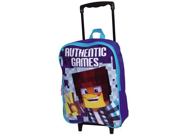 Mochila Infantil Sestini Authentic Games com Rodinhas Tam G Azul - 1