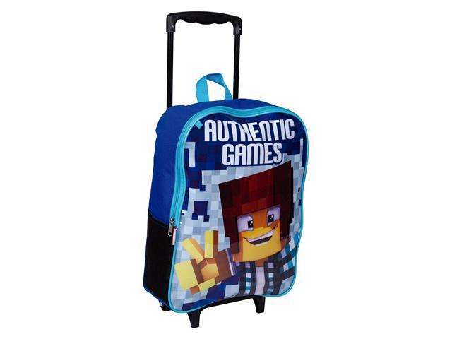 Mochila Infantil Sestini Authentic Games com Rodinhas Tam G Azul