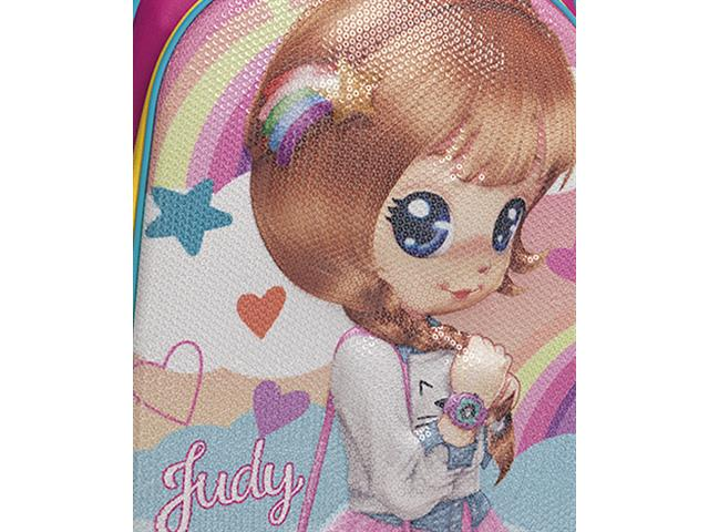 Mochila Infantil Sestini Judy com Rodinhas Tam G Rosa - 2