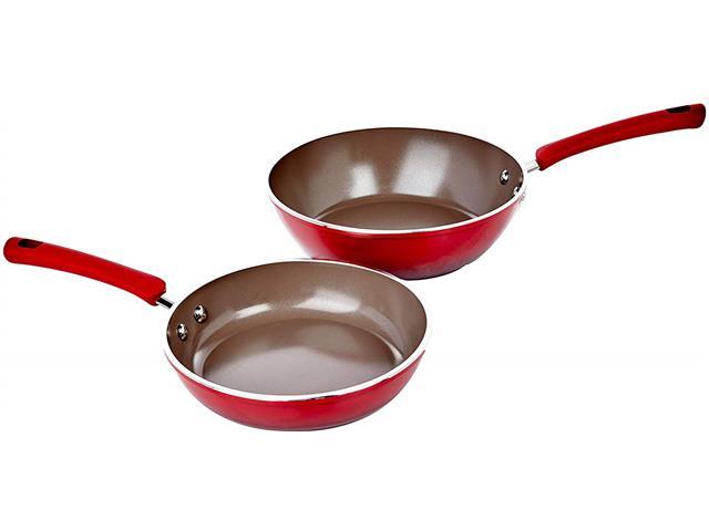 Jogo de Panelas Brinox Ceramic Life Select Vermelho Romã 5 Peças - 3