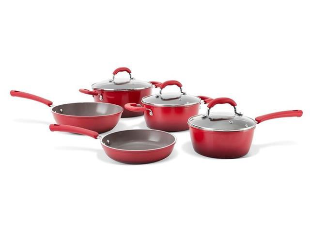 Jogo de Panelas Brinox Ceramic Life Select Vermelho Romã 5 Peças - 4