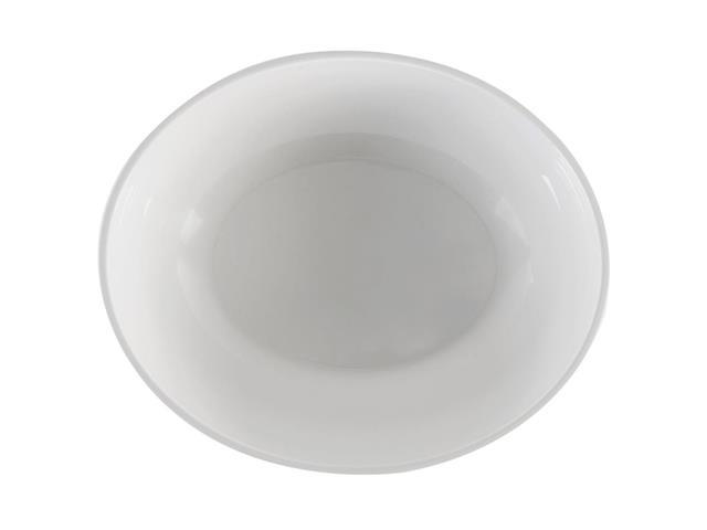 Saladeira Oval Haus Melamina Branco 29cm 2,9 Litros - 1