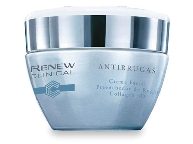 Creme Facial Renew ClinicalAvon Antirrugas Preenchedor Collagen 3D 30g
