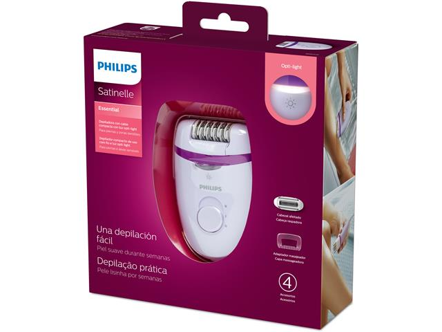 Depilador Elétrico Philips Satinelle Essential Roxo com 4 Acessórios - 9