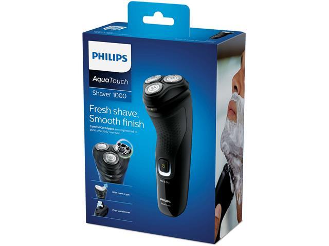 Barbeador Elétrico Philips Shaver 1100 Seco e Molhado Preto - 2